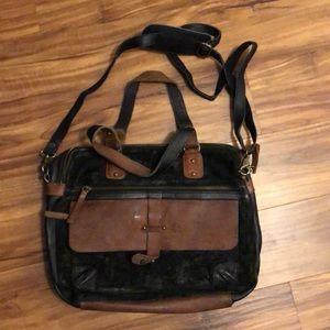 Vintage Addiction SUEDE & LEATHER MESSENGER BAG.